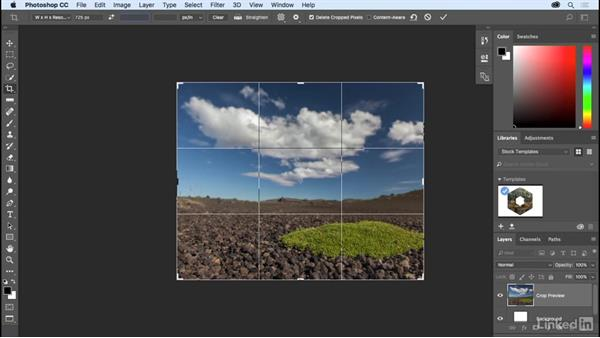 Cropping to the perfect size: Photoshop CC 2017 Essential Training: The Basics