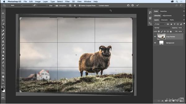 Autofill with Content-Aware Crop: Photoshop CC 2017 Essential Training: The Basics
