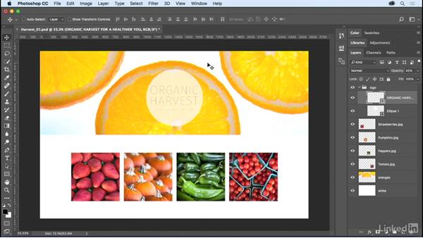 Working with layer groups: Photoshop CC 2017 Essential Training: The Basics