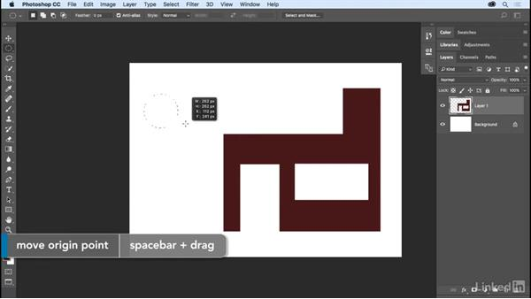 Using the Marquee and Lasso tools: Photoshop CC 2017 Essential Training: The Basics
