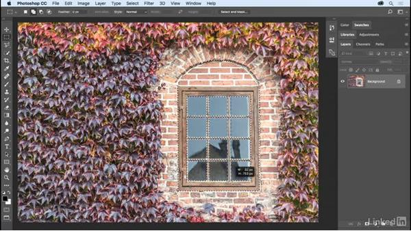 Combining selections: Photoshop CC 2017 Essential Training: The Basics