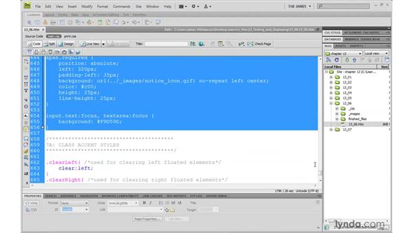 Creating modular style sheets: Dreamweaver CS4 with CSS Essential Training