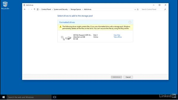 Configuring Storage Spaces: Windows 10: Configure Storage