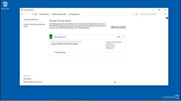 Delete Storage Spaces: Windows 10: Configure Storage