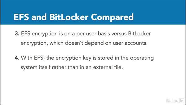EFS and BitLocker compared: Windows 10: Configure Storage