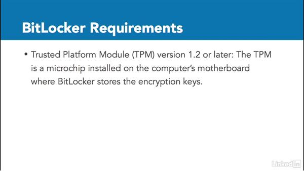 BitLocker encryption requirements