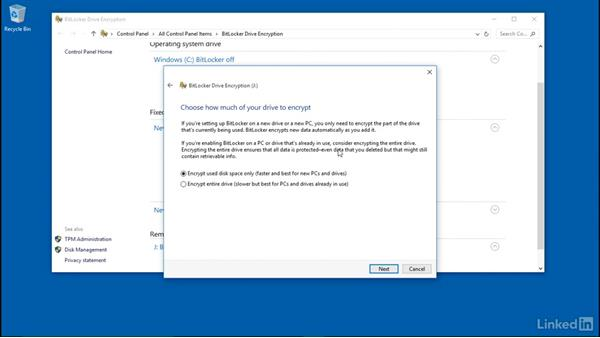 Encrypt a removable drive with BitLocker To Go: Windows 10: Configure Storage
