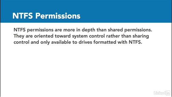 Share and NTFS permissions: Windows 10: Configure Storage