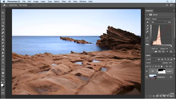 Dodging and burning with Curves: Photoshop CC 2017 Essential Training: Photography