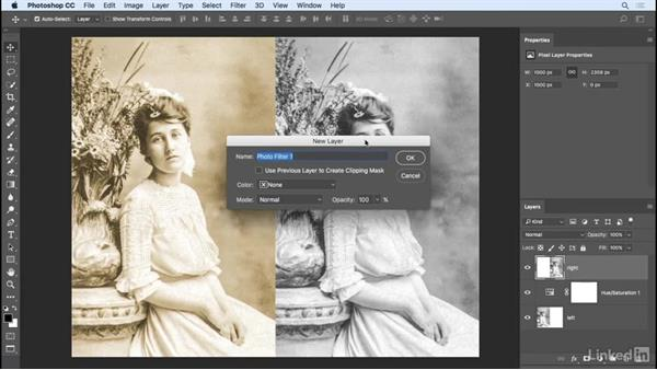 Tinting images using adjustment layers: Photoshop CC 2017 Essential Training: Photography