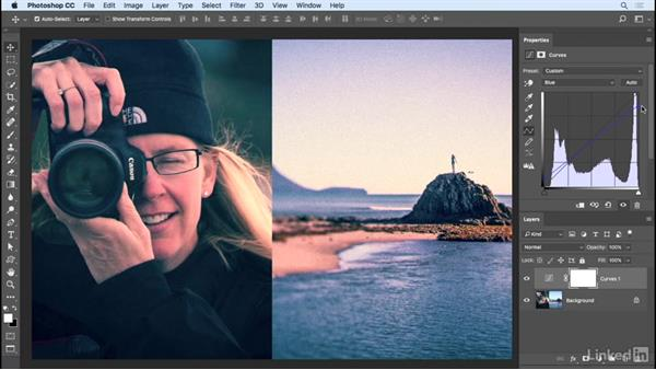 Cross-process and split-tone effects: Photoshop CC 2017 Essential Training: Photography