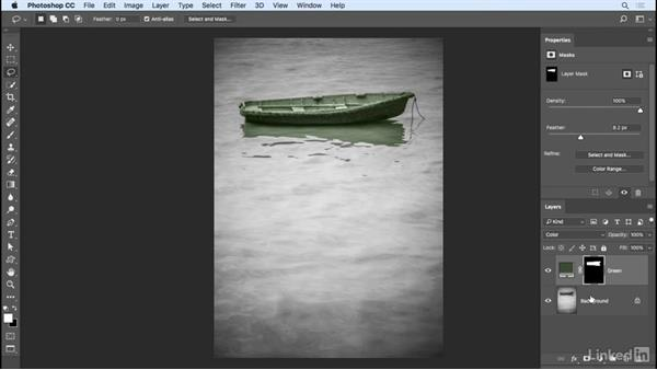 Creating a hand-tinted look with fill: Photoshop CC 2017 Essential Training: Photography