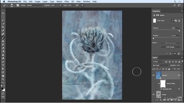 Adding a texture to a photo: Photoshop CC 2017 Essential Training: Photography