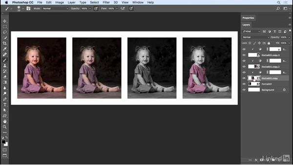Replacing the contents of a Smart Object: Photoshop CC 2017 Essential Training: Photography
