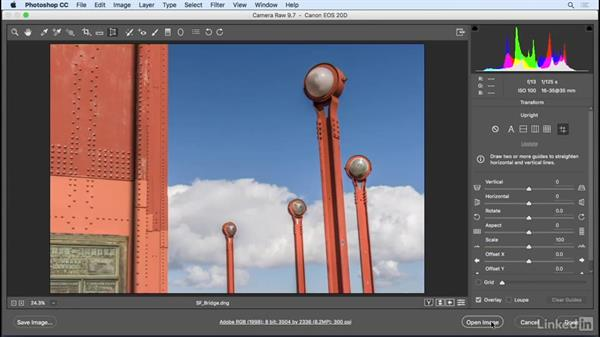 Remove wide-angle distortions: Photoshop CC 2017 Essential Training: Photography
