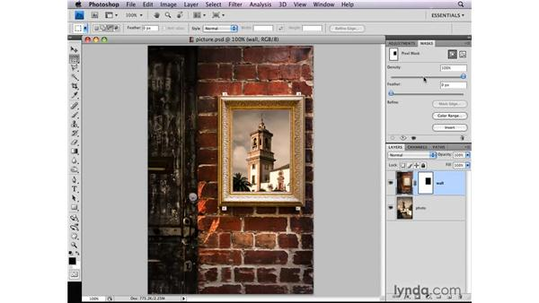 Making a course workspace: Photoshop CS4: Layer Masks in Depth