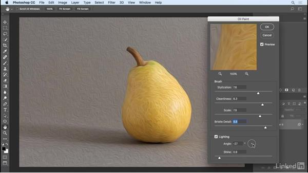 The Oil Paint filter: Photoshop CC 2017 Essential Training: Photography