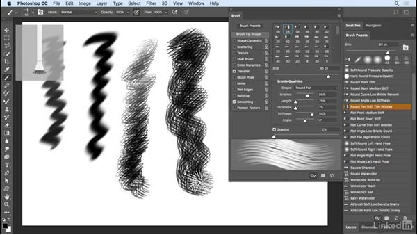 Natural media brushes: Photoshop CC 2017 Essential Training: Photography