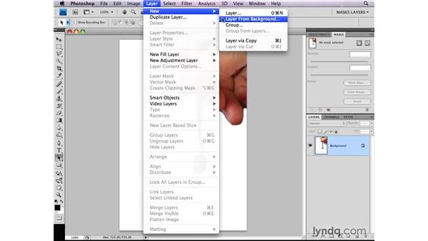 Converting a background layer for masking: Photoshop CS4: Layer Masks in Depth