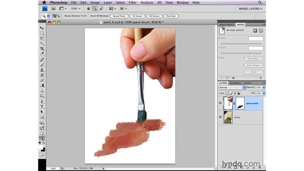 Viewing a layer mask: Photoshop CS4: Layer Masks in Depth