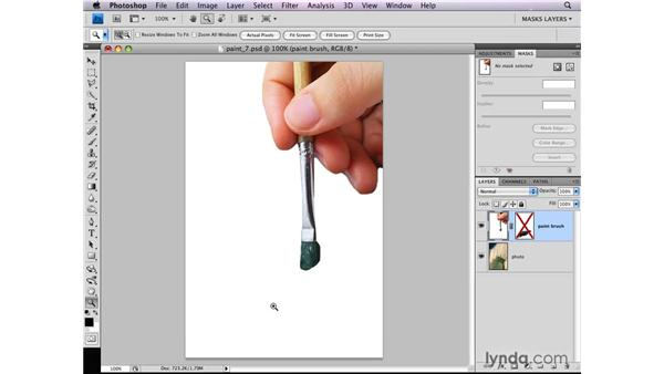 Disabling a layer mask: Photoshop CS4: Layer Masks in Depth
