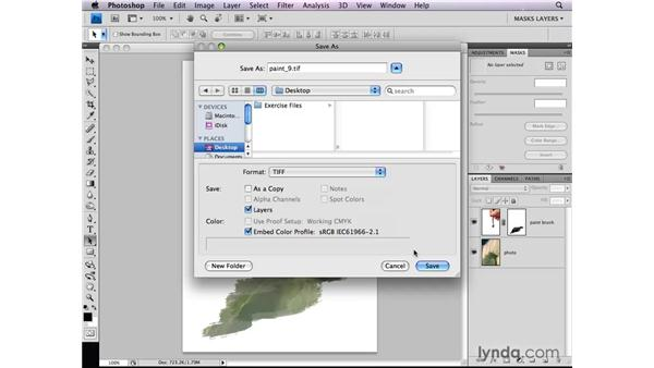 Saving layer masks with a file: Photoshop CS4: Layer Masks in Depth