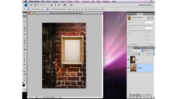 Filling a selection on a layer mask: Photoshop CS4: Layer Masks in Depth