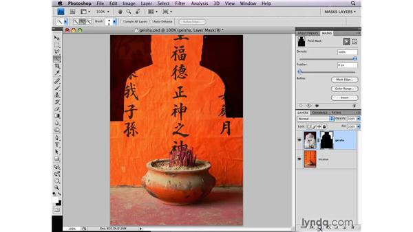 Making a layer mask from a selection of the background: Photoshop CS4: Layer Masks in Depth