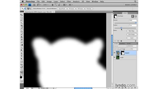 Feathering masks: Photoshop CS4: Layer Masks in Depth