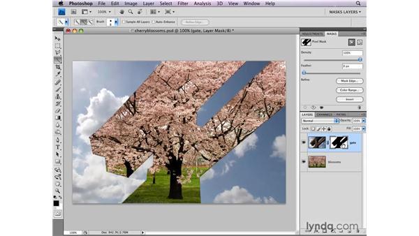 Inverting layer masks: Photoshop CS4: Layer Masks in Depth