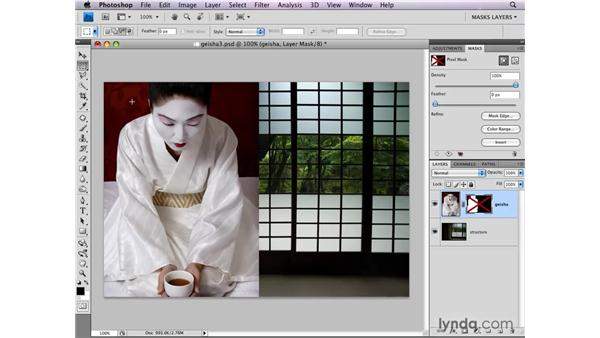 Loading selections from layer masks: Photoshop CS4: Layer Masks in Depth