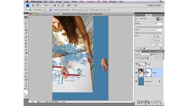 Unlinking layer masks: Photoshop CS4: Layer Masks in Depth