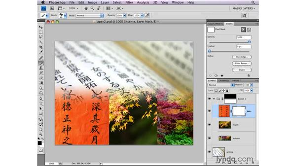 Adding layer masks to layer groups: Photoshop CS4: Layer Masks in Depth