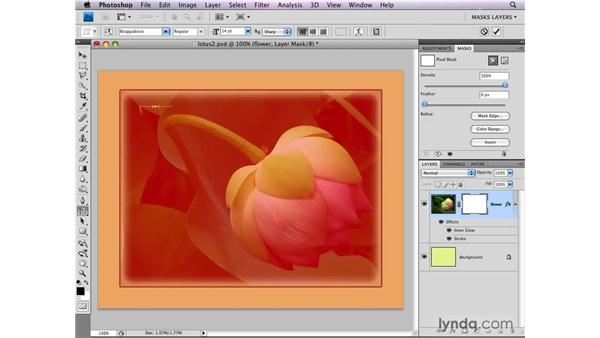 Using layer masks with layer styles: Photoshop CS4: Layer Masks in Depth