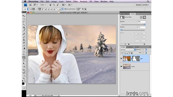 Creating vector masks: Photoshop CS4: Layer Masks in Depth