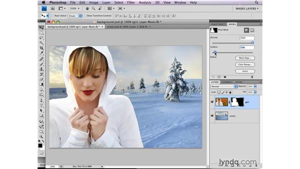 Replacing a background : Photoshop CS4: Layer Masks in Depth
