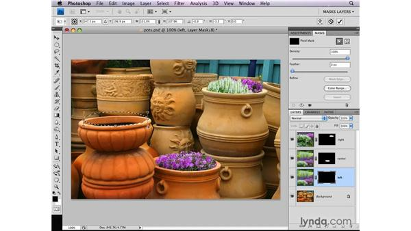 Putting an object inside another: Photoshop CS4: Layer Masks in Depth