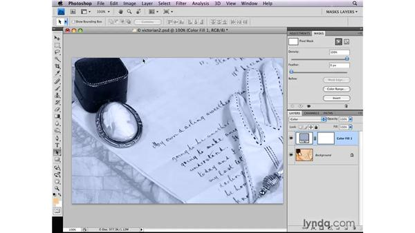 Limiting a fill layer: Photoshop CS4: Layer Masks in Depth