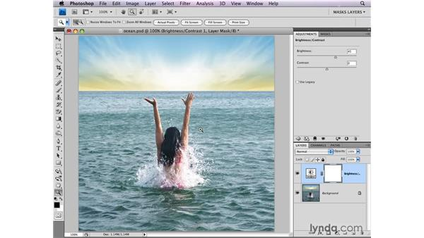 Limiting adjustment layers: Photoshop CS4: Layer Masks in Depth