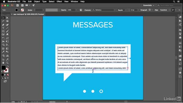 Working with placeholder text: Illustrator CC 2017: New Features