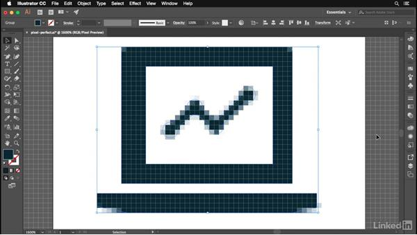 Working with the pixel grid: Illustrator CC 2017: New Features