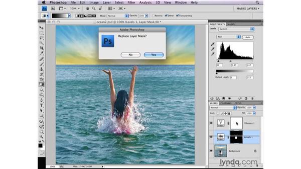 Copying adjustment layer masks: Photoshop CS4: Layer Masks in Depth