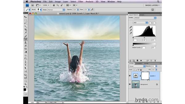 Applying blend modes selectively: Photoshop CS4: Layer Masks in Depth