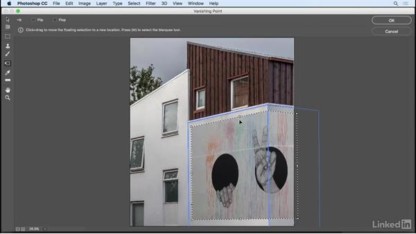 Vanishing Point to paste in perspective: Photoshop CC 2017 Essential Training: Design