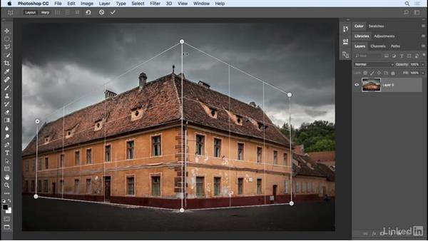 Perspective Warp: Photoshop CC 2017 Essential Training: Design