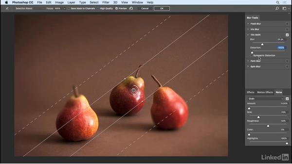 Tilt Shift and Iris and Field blur effects: Photoshop CC 2017 Essential Training: Design
