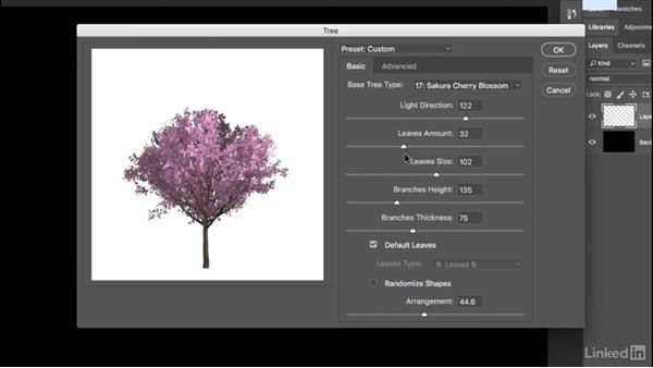 Creating custom trees: Photoshop CC 2017 Essential Training: Design