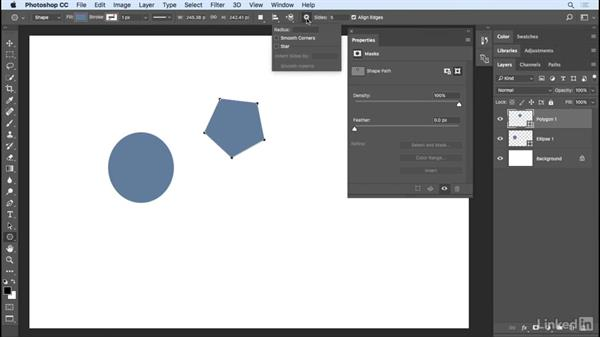 Using the Shape tools: Photoshop CC 2017 Essential Training: Design