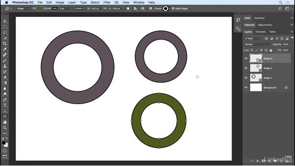 Strokes, fills, and effects for shapes: Photoshop CC 2017 Essential Training: Design