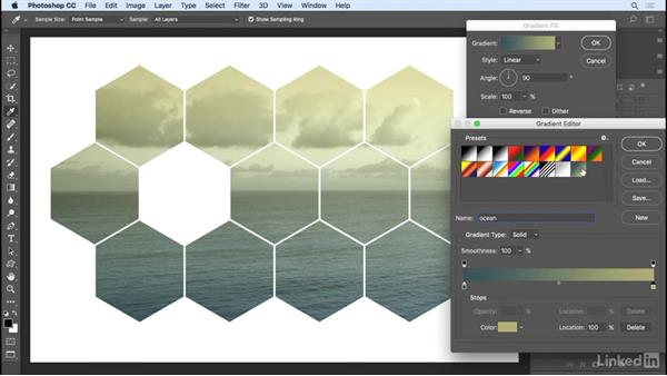 Using color, gradient, and pattern fill